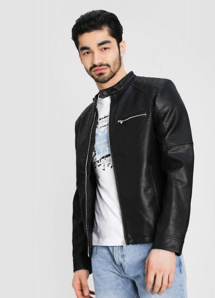 Куртка из искусственной кожи фото