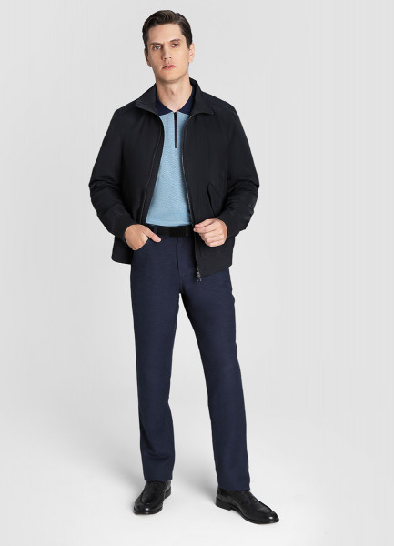 Куртка-бомбер с накладными карманами