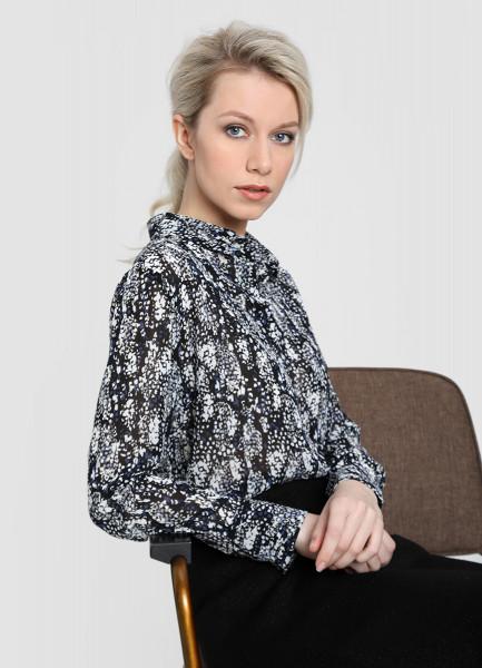Принтованная блузка из крепа ostin блузка из крепа в геометрический принт