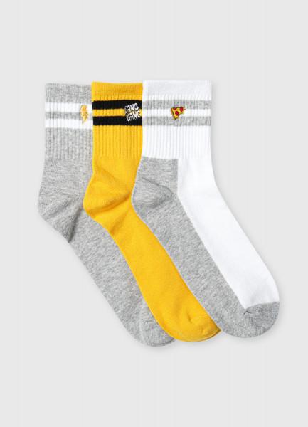 Короткие носки с вышивкой