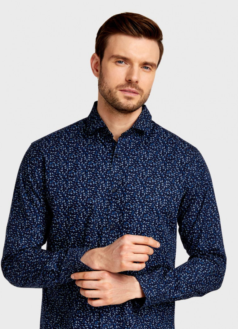 Рубашка с принтом «листья»