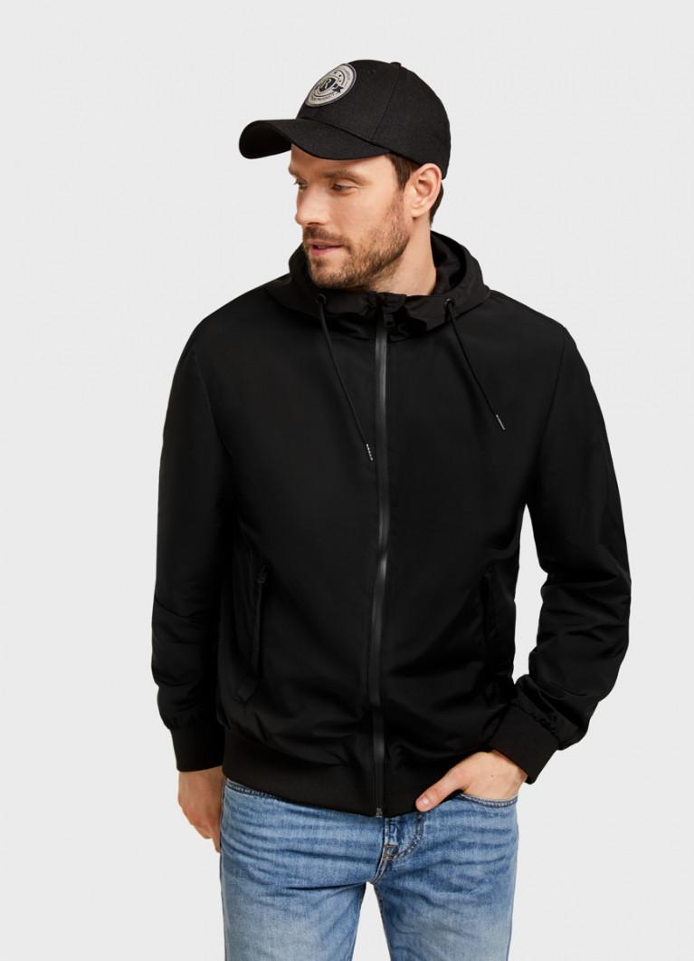 Куртка-бомбер с капюшоном