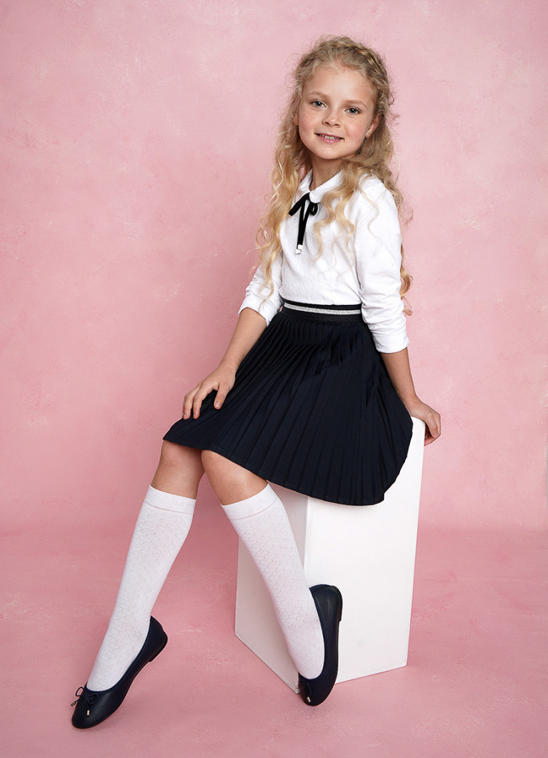 Трикотажная блузка для девочек