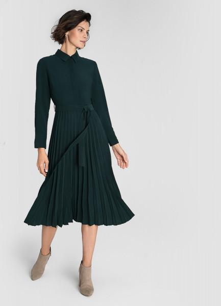 Платье из вискозы с плиссированной юбкой