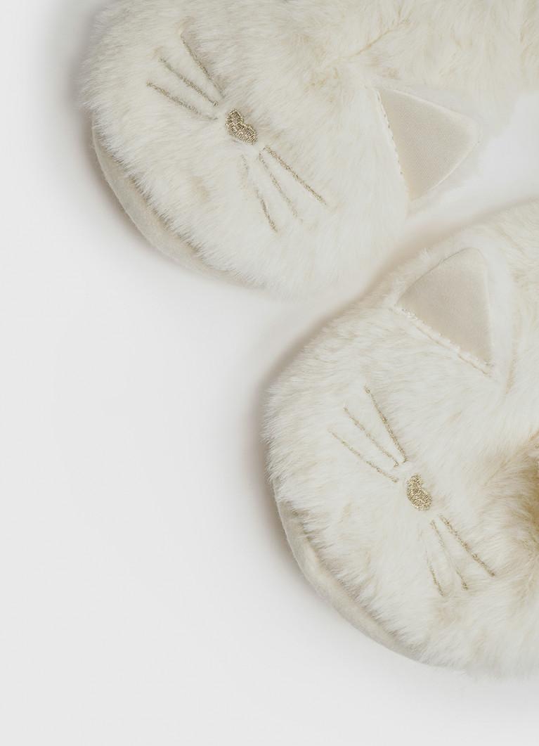 Женская домашняя обувь O'Stin Мягкие тапочки с мордочкой кошки