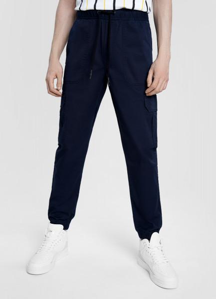 Карго-брюки из микротвила с эластаном