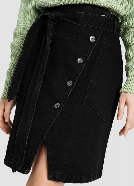 Денимная юбка на пуговицах