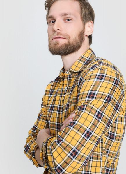 Рубашка в платочную клетку фото