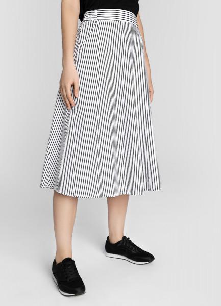 Хлопковая юбка А-силуэта на резинке фото
