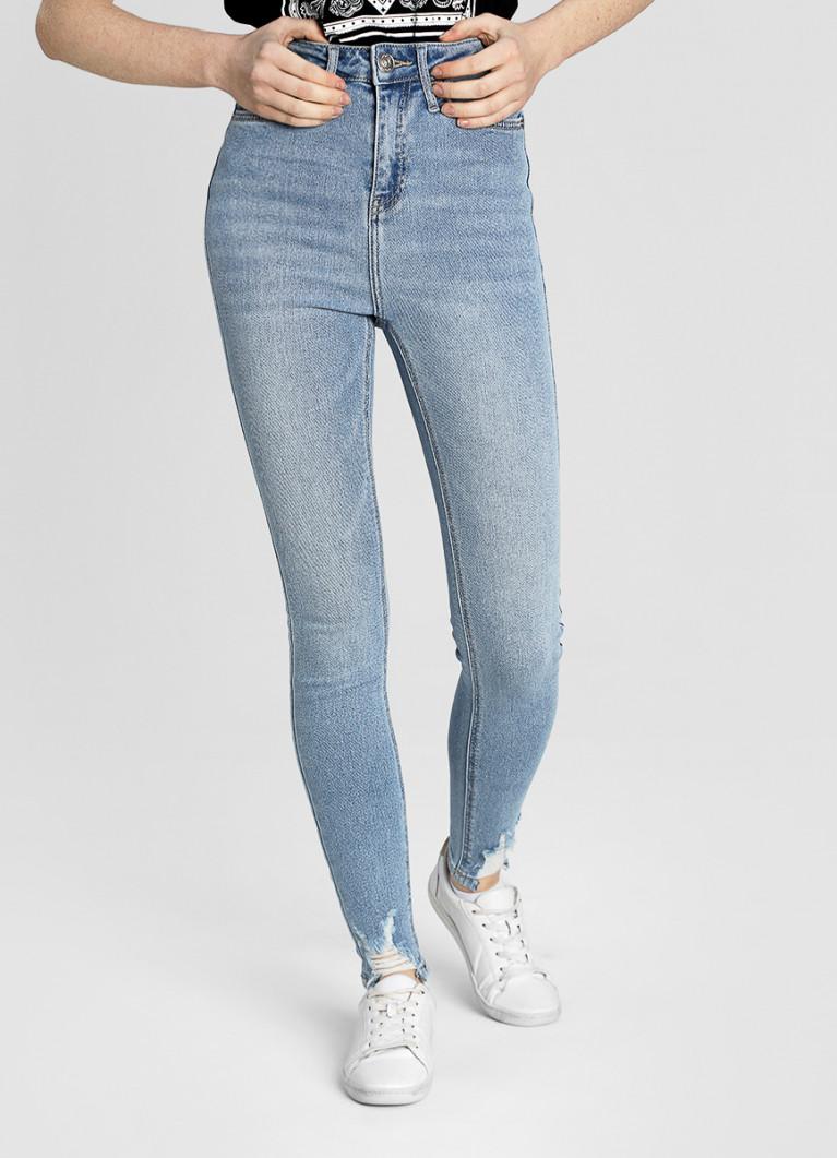 Суперузкие премиум-джинсы с высокой посадкой