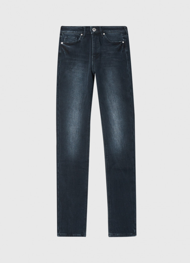 Утеплённые узкие джинсы
