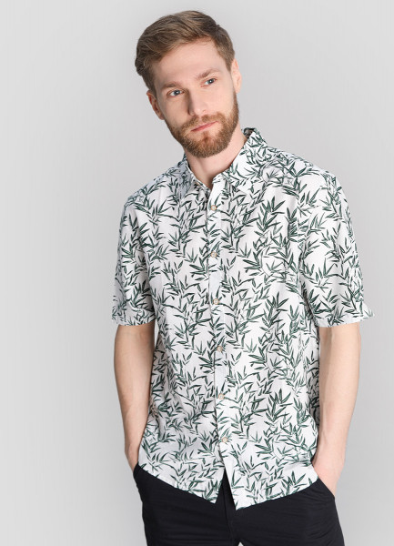 Рубашка из поплина с флоральным принтом