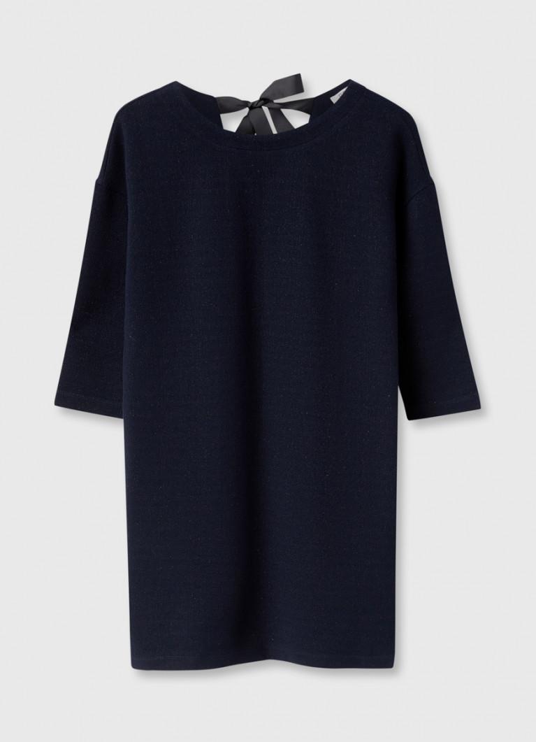 Платье-кокон с завязками сзади