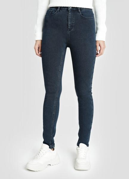Утеплённые джинсы со стиркой