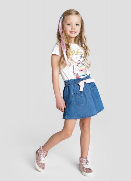 Джинсовая юбка для девочек