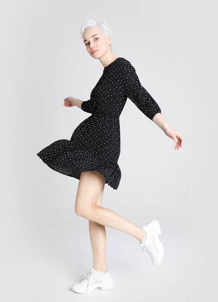Принтованное вискозное платье