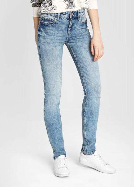 Узкие премиум-джинсы с винтажной стиркой фото