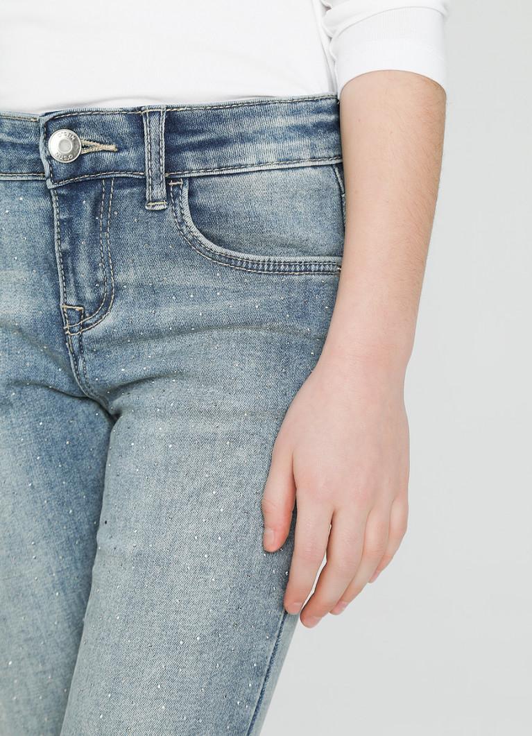 Джинсы Skinny для девочек со стразами