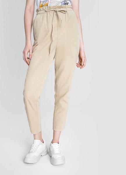 Вельветовые свободные брюки