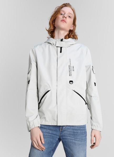 Куртка с капюшоном и принтом фото