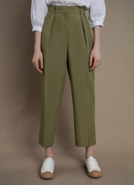 Льняные брюки со складками