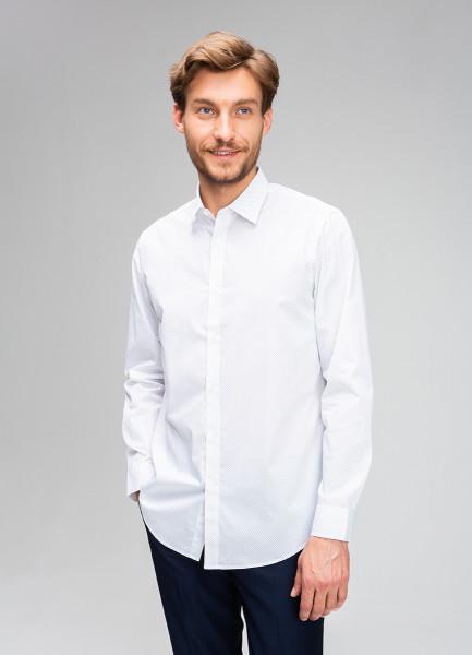 Рубашка из поплина с точечным принтом