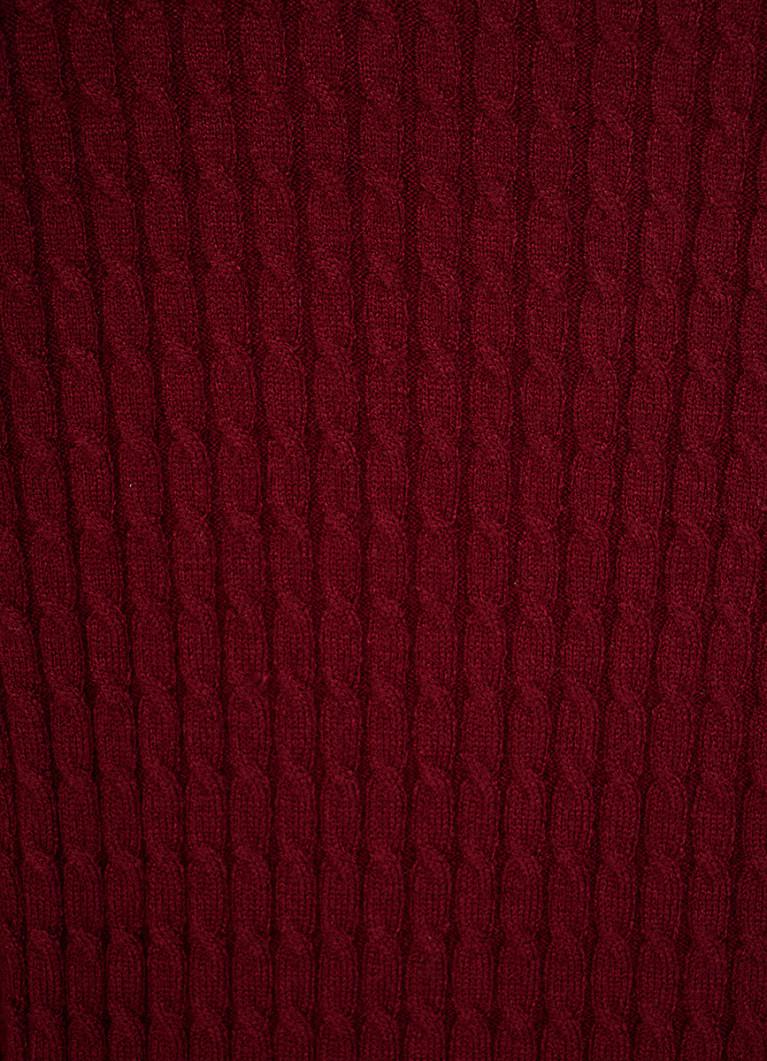 Джемпер вязки «микрокосы»