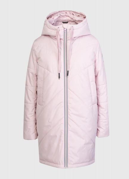 Утеплённая длинная куртка с капюшоном