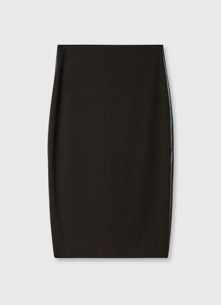 Трикотажная юбка миди с лампасами