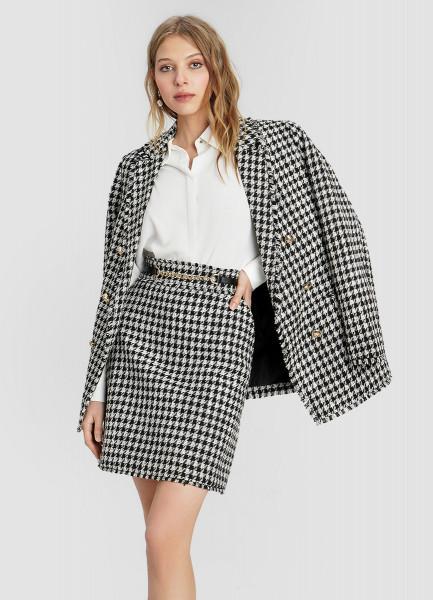 Твидовый двубортный пиджак