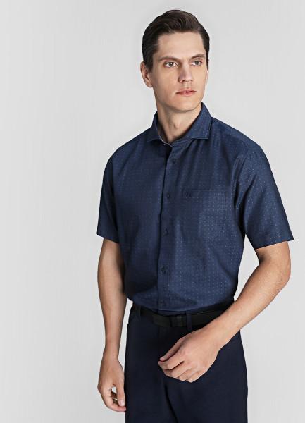 Рубашка из хлопка со льном