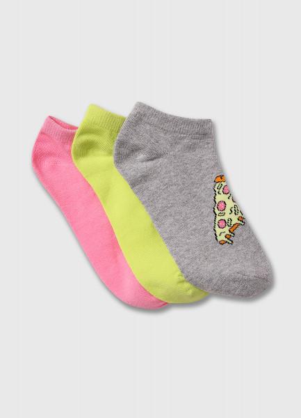 Фото - Короткие носки с ярким жаккардом носки с жаккардом пицца