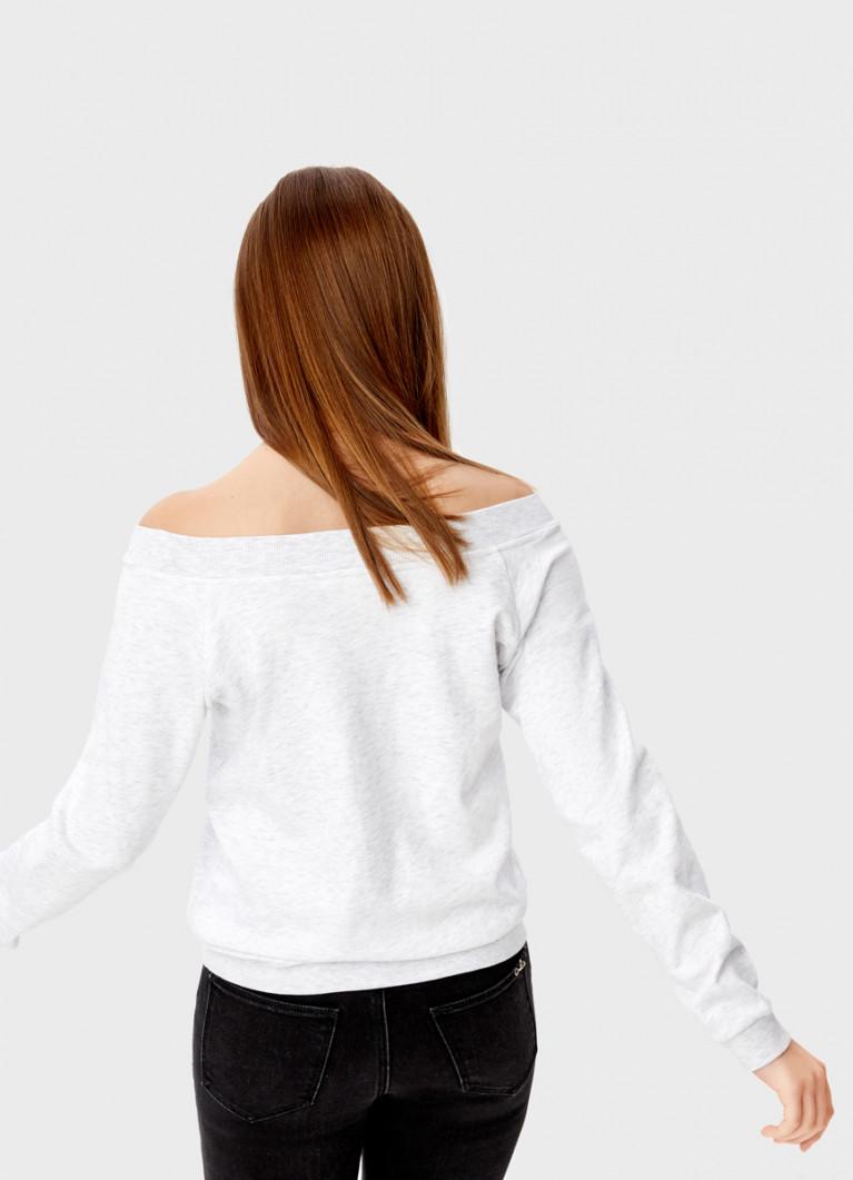 Толстовка с открытыми плечами