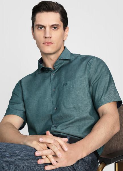 Рубашка из хлопка со льном фото