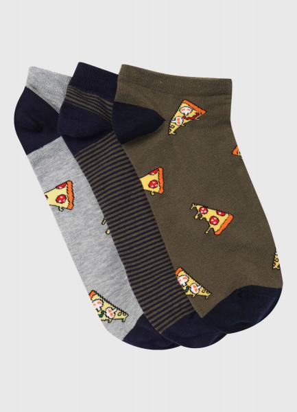 Короткие носки с жаккардом «пицца»
