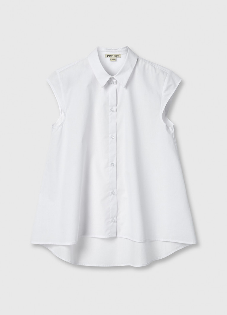 Рубашка без рукавов A-силуэта