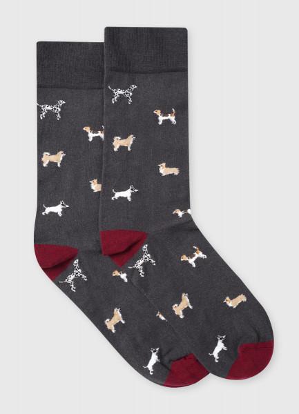 Фото - Носки с жаккардом «собаки» носки с жаккардом авокадо