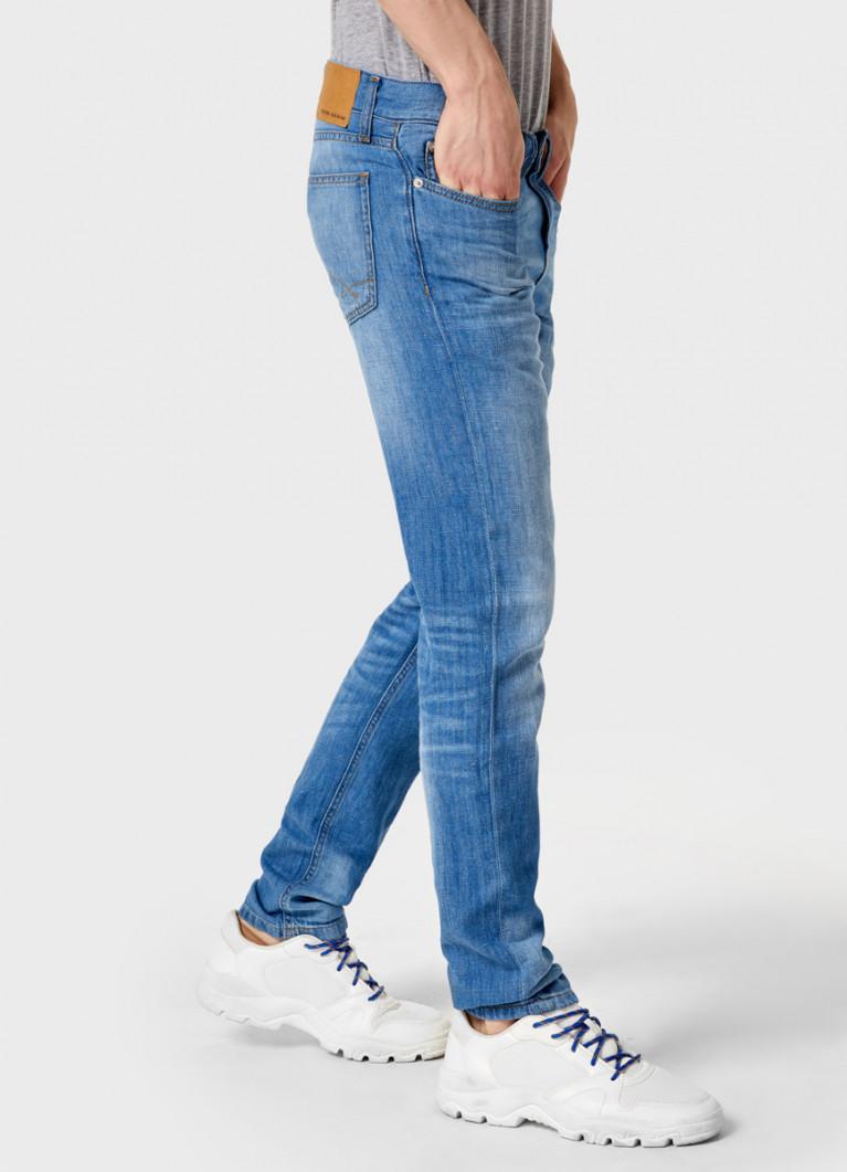 Летние джинсы с добавлением льна