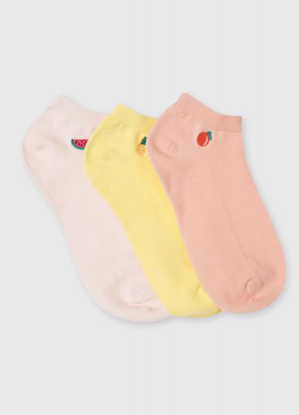 Комплект коротких носков с вышивкой