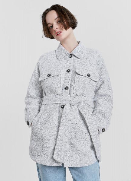 Пальто-рубашка с поясом