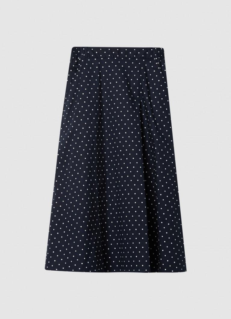 Хлопковая юбка А-силуэта на резинке