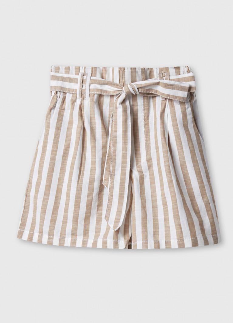 Хлопковые шорты с завышенной талией