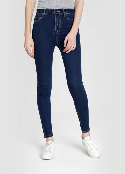 Базовые суперузкие джинсы с высокой посадкой фото