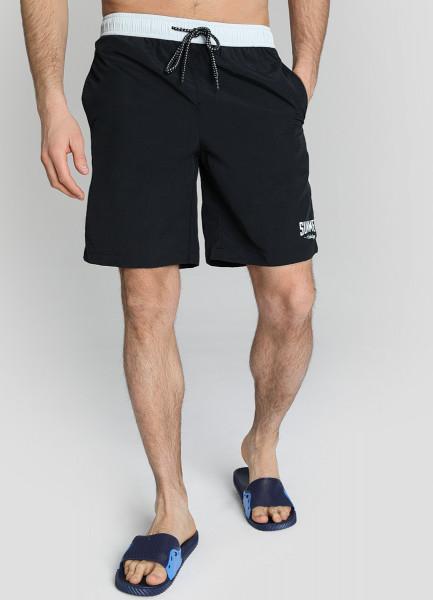 Плавательные шорты с констрастными деталями