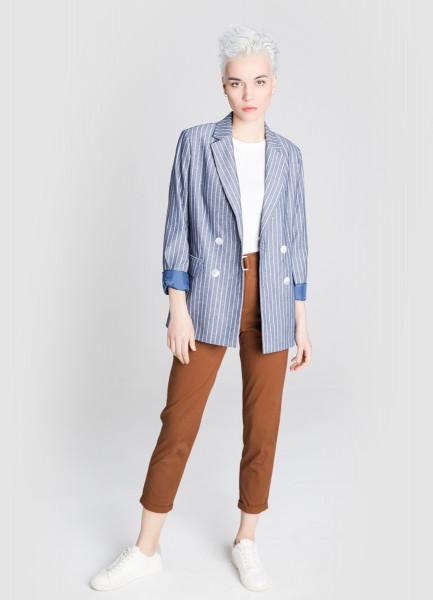 Двубортный пиджак пиджак с отложным воротником b young