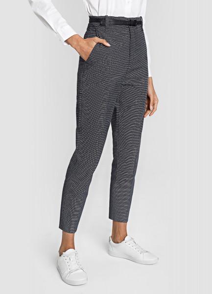 Жаккардовые брюки с поясом фото