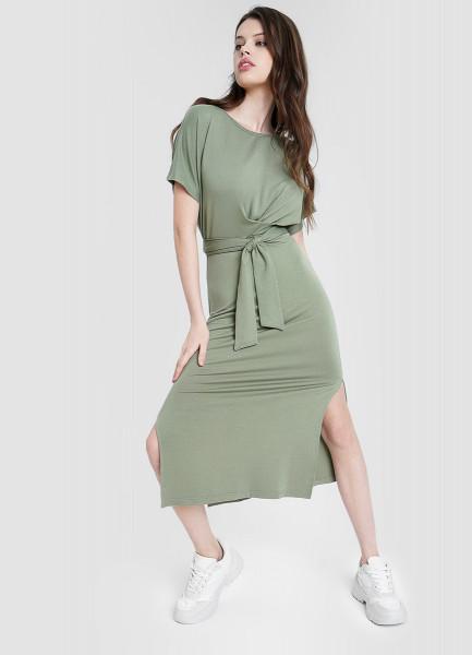 Платье миди с узлом