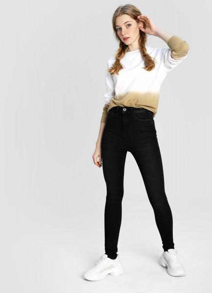 Суперузкие премиум-джинсы с высокой посадкой фото