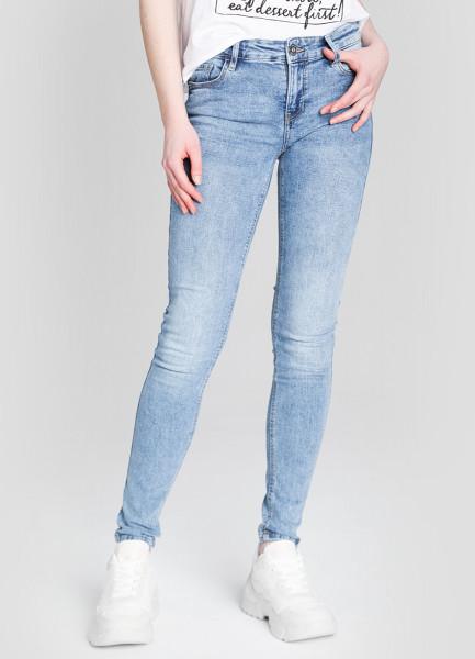 Суперузкие голубые джинсы фото