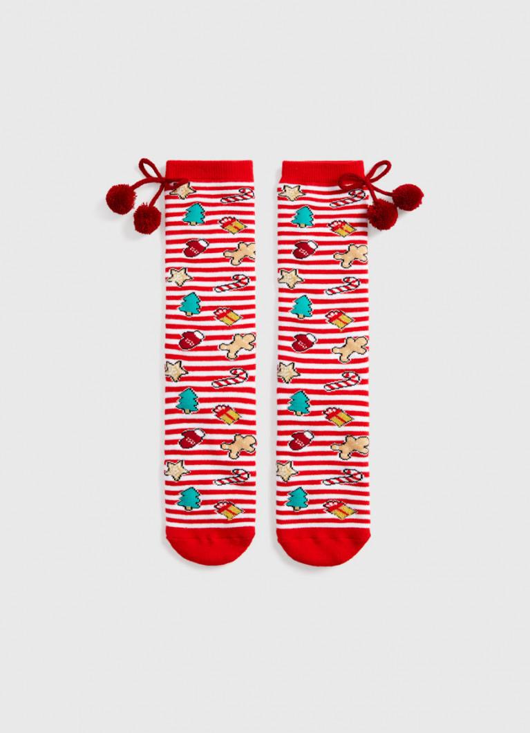 Махровые носки с жаккардом
